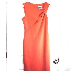 Peach Calvin Klein Asymmetrical dress